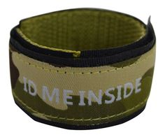 10 x Kids Eco-ID wristbands camouflage