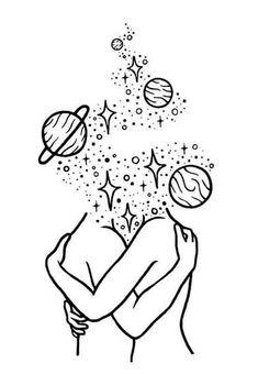 hippie painting ideas 637892734703911557 - Dibujo Source by Space Drawings, Cool Art Drawings, Pencil Art Drawings, Art Drawings Sketches, Easy Drawings, Arte Sketchbook, Doodle Art, Art Inspo, Line Art