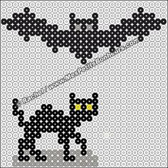 Halloween hama beads patterns by Rachel Fuse Bead Patterns, Perler Patterns, Beading Patterns, Diy Perler Beads, Pearler Beads, Hama Beads Halloween, Plastic Bead Crafts, Iron Beads, Melting Beads
