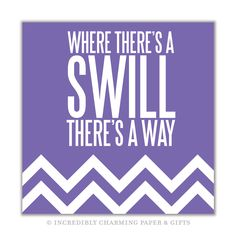 Where there's a Swill There's a Way.  This stylish and fun beverage napkin is perfect for any celebration or everyday use. 25cm x 25cm, 3 ply, 20 per package. https://incrediblycharming.com/beverage-napkins/43-swill-beverage-napkin.html Made in the USA.