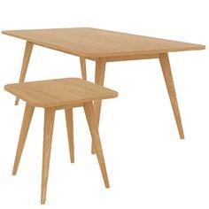 Set of 2 - Stockholm Coffee & Side Table - Oak - Scandinavian Furniture 13% OFF | $373.00 - Milan Direct