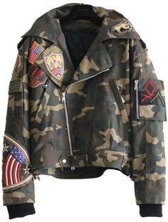 BALMAIN* Camouflage Military Aviator Jacket