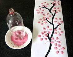 Amaliz Créations: peinture en relief avec un fond de bouteille !