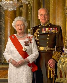 Her Majesty The Queen and His Royal Highness The Duke of Edinburgh. Rms Titanic, Duke And Duchess, Duchess Of Cambridge, Royal Beauty, British Royal Families, Handsome Prince, Her Majesty The Queen, Prince Phillip, Elisabeth