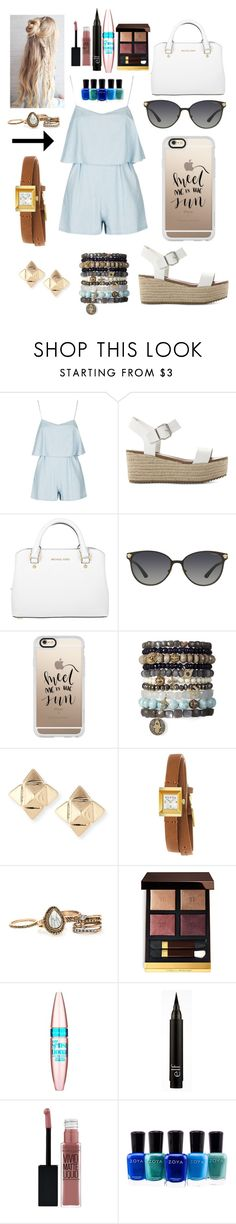 """Untitled #45"" by kikibrinson02 on Polyvore featuring Steve Madden, Michael Kors, Versace, Casetify, Valentino, Gucci, Tom Ford, Maybelline and Zoya"