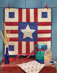 Patriotism never goes out of style and is appropriate all year long. A patriotic quilt pattern is always fun for a summer get-together, as well! Make this table topper called Last Summer Picnic, by Patrick Lose, for summer celebrations and picnics. And, when it's not in use, you'll want to hang it on a wall! Get the quilt kit while supplies last.
