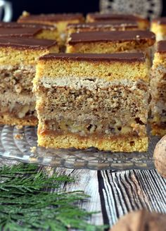 Baking Recipes, Cake Recipes, Dessert Recipes, Polish Desserts, Kolaci I Torte, Hazelnut Cake, Different Cakes, Pastry And Bakery, Mini Foods