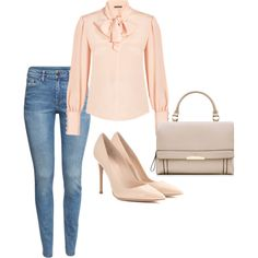 A fashion look from February 2015 featuring Alexander McQueen blouses, H&M jeans and Gianvito Rossi pumps. Browse and shop related looks.