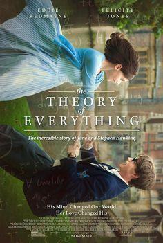 La teoría del todo: Narra la relación entre el célebre astrofísico Stephen Hawking y su primera mujer, Jane, desde que ambos se conocieron siendo estudiantes en la Universidad de Cambridge a principios de los 60 y a lo largo de 25 años, especialmente en su lucha juntos contra la enfermedad degenerativa que postró al famoso científico en una silla de ruedas. (FILMAFFINITY)