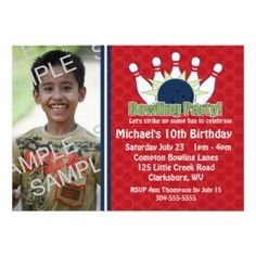 Custom Photo Bowling Birthday Party Personalized Announcement today price drop and special promotion. Get The best buyHow totoday easy to Shops & Purchase Online - transferred directly secure and trusted checkout. 12th Birthday, Birthday Parties, Birthday Ideas, Invitation Design, Custom Invitations, Bowling Birthday Invitations, Special Promotion, Custom Photo, Some Fun