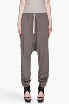 RICK OWENS DRKSHDW Grey low-rise harem Pants