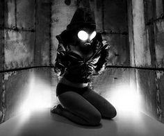 gas mask, girl, and mask image Twilight Images, Rude Mechanicals, Gas Mask Girl, Mask Images, Church Pictures, Underground Music, Winter Images, Stoner Girl, Freestyle