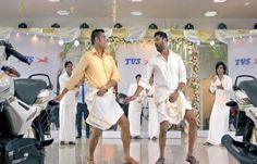 #PrabhuDeva & #MSDhoni Lungi Dance Is The Surprising Number