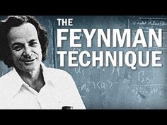 How to Learn Faster with the Feynman Technique (Example Included) - YouTube ~ This is a technique everyone has heard of...but, he did a great job explaining it a little more in depth.