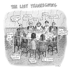 The Last Thanksgiving - New Yorker Cartoon Premium Giclee Print by Roz Chast at Art.com