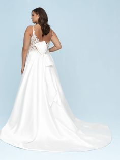 Style: 9620 The pearlescent sheen of Mikado lends itself perfectly to the architectural, dramatic back detailing seen on this A-line gown. The bow detailing can be easily removed by your alterations Bridal Dresses, Wedding Gowns, Bridesmaid Dresses, Social Dresses, Bridal And Formal, Prom Dress Shopping, A Line Gown, Long Sleeve Wedding, Bridal Style