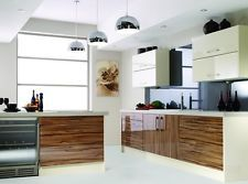 LOOK AT CHEAPLY PRICED EX DISPLAY & OTHER FULL KITCHEN SALES, THEN ADAPT ACCORDINGLY walnut zebra zebrano gloss complete kitchen units new not used or ex display
