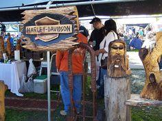 harley davidson in wood carving ...