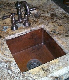 This Medium Square Hammered Copper Bar Or Prep Sink Is A Clic Made From Lead Free By Soluna S