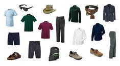 Beach packing tips for men.