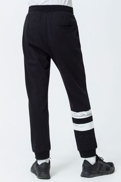 Cheap Monday Image 2 of Move Paint Stripes Trousers in Black