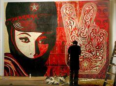 J'ai découvert par hasard sur RUE89 le travail de l'artiste SHEPARD FAIREY Je partage avec vous parce que j'aime beaucoup http://obeygiant.com/