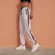 Side Stripes Casual Jogger Pants – Lupsona Source by juliecapinpin Pants Jogger Pants Outfit, Jogging Outfit, White Jogger Pants, Harem Pants, Fashion Pants, Fashion Outfits, Fashion Styles, Fashion Ideas, Womens Fashion