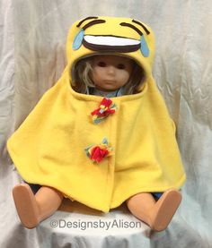 A personal favorite from my Etsy shop https://www.etsy.com/listing/481759099/emoji-baby-capelet-face-with-tears-of