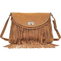 Zadig & Voltaire Vagabond Hippie bag ($408) ❤ liked on Polyvore featuring bags, handbags, shoulder bags, brown, brown shoulder bag, brown purse, brown fringe purse, shoulder handbags and purse shoulder bag