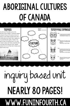 Do you teach Social Studies in Canada? Do you teach about Aboriginal Cultures? You need this file! It contains a variety of activities to meet your curriculum. Aboriginal Education, Indigenous Education, Aboriginal Culture, Social Studies Classroom, Social Studies Activities, Teaching Social Studies, Learning Activities, Kids Learning, School Resources