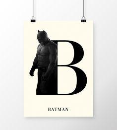 Poster Batman - Tipografia em print