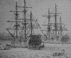 Corbetas Atrevida y Descubierta 1789, famosas por haber participado en la expedición de Alejandro Malaspina entre 1789 y 1794