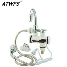 ATWFS Instant Electric Shower Water Heater Instant Hot Water Faucet Kitchen Electric Tap Water Heating Instantaneous Heater