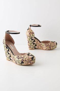 """""""Walking the tightrope"""" by Aliology. On a day like today, when I'm stuck in bed trying to get over this cold, fun and youthful fashion can lift my spirits like than a day at the circus. So, enjoy the show! { Trianon Wedges by To Be, from aliology.com }"""