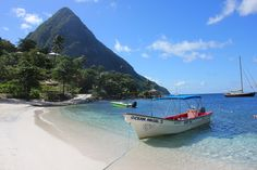I stopped at a place called Sugar Beach and it certainly lived up to its name after I clapped eyes on the blinding-white sand. #StLucia #Caribbean