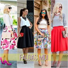 GerberitaChic❁: FALDAS MIDI, GLORIOSA ELEGANCIA Tips Belleza, Chiffon, Women's Fashion, Floral, Skirts, Outfits, Ideas, Vestidos, Midi Skirts