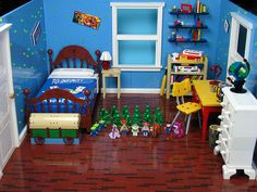 "15 Insane LEGO Creations | Andy's Room | A 30""x36"" replica of Andy's room from Toy Story. (More photos via.)"