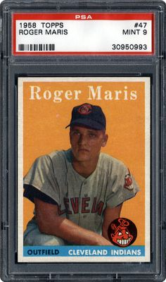 This is a listing for a 1958 Topps Roger Maris Cleveland Indians rookie graded baseball card Ex. Certification # Please see photos and ask questions before bidding. Baseball Cards For Sale, Football Cards, Fsu Baseball Schedule, Cleveland Indians Baseball, Baseball Players, Mlb Players, Hockey, New York Yankees, Indiana