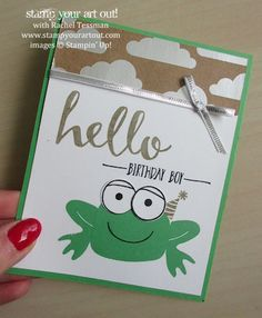 Playful Pals birthday card…#stampyourartout #stampinup - Stampin' Up!® - Stamp Your Art Out! www.stampyourartout.com