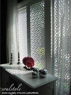 Vinyl Lattice Panels Make Wonderful Porch Skirting or Privacy Screens love these shapes! Be so cute to top my fence!