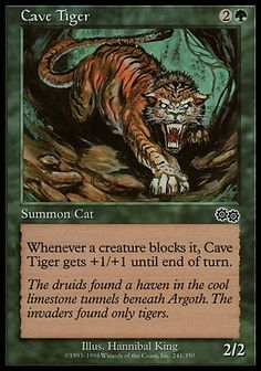 Mtg Stalking Tiger 2x Tenth Edition