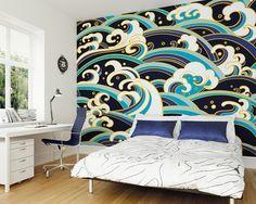 ohpopsi Seashore Summer Beach Waves Wall Mural Wall Art