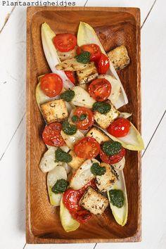 Plantaardigheidjes: Aardperen met tomaatjes en tofu feta