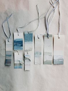 DIY Price Tags for Indie Crafters One great way to improve your craft fair presentation is to make your own price tags! Brittany from Pop Shop America rounded up a lovely collection of price tags that you can DIY. She says: Price t… Creative Bookmarks, Diy Bookmarks, Bookmark Craft, Watercolor Bookmarks, Watercolor Cards, Watercolour, Art Graphique, Craft Fairs, Gift Tags