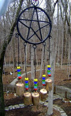 Pentacle Pentagram Wind Chime of Peace & Protection Wiccan Witch Magick She's A Witch, Wiccan Witch, Magick, Witchcraft, Gypsy Witch, Wiccan Alter, Witch Board, Wiccan Crafts, Kitchen Witch