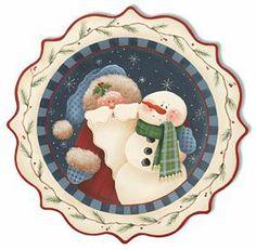 CHRISTMAS SANTA AND SNOWMAN CLIP ART