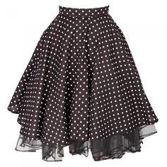 Cheeky Black Polka Dot Skirt ❤ liked on Polyvore featuring skirts, bottoms, polka dot skirt, black zipper skirt, black skirt, petticoat skirt and zipper skirt