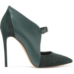 Casadei Leather and suede pumps (18.920 RUB) ❤ liked on Polyvore featuring shoes, pumps, heels, scarpe, emerald, suede pumps, leather pumps, high heel shoes, casadei pumps and high heel pumps