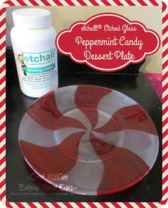 Cindi McGee - Behind These Eyes : etchall® Etched Glass Peppermint Candy Dessert Dish