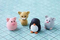 Fondant Katze Fondant Schwein Fondant Pinguin Fondant Maus